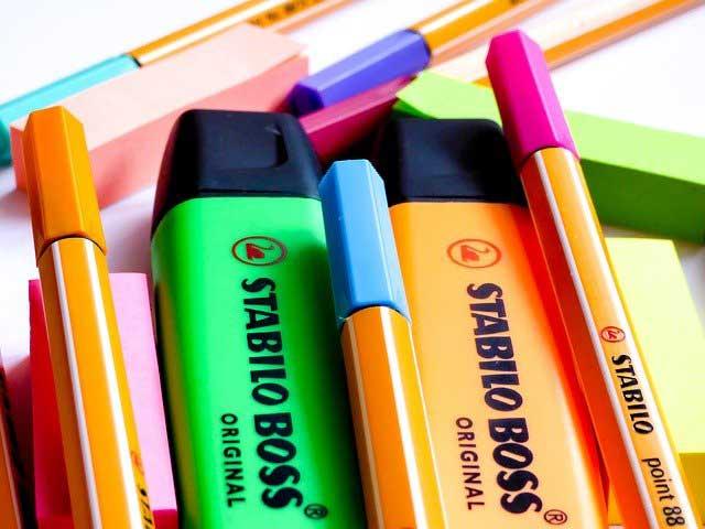 rotuladores-fluorescentes-para-subrayar-el-temario